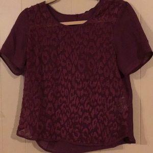 Banana Republic maroon blouse